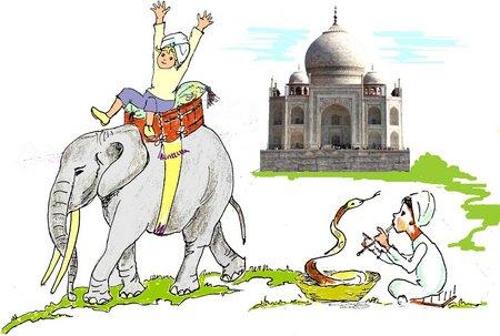 1 Indien mit Grün