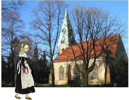 Heeper Kirche mit Luise 2