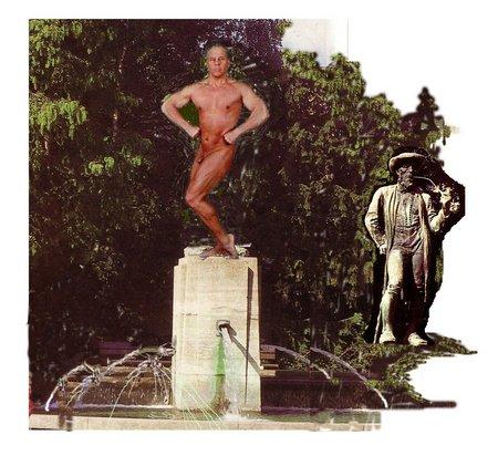 Leineweberbrunnen mit Erni