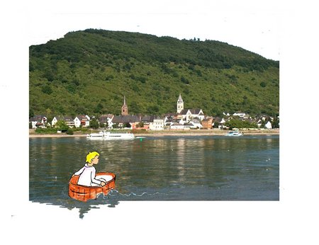 Rhein mit Stadt Lumpi total