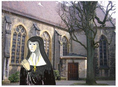 Süsterkirche2 mit Nonne