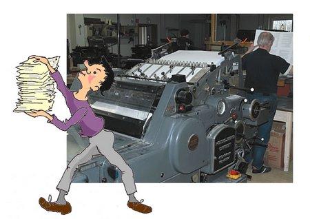 23 Druckerei mit Groß