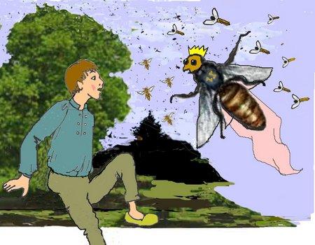 Wilhelm mit Busch und Biene 2