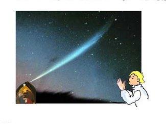 Komet mit Lumpi undMaria