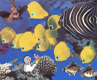 4 Gelbe Fische