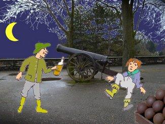 Kanone mit Knecht
