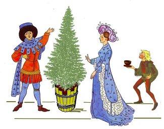 7 erster Tannenbaum mit Lumpi