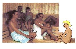 7 Sauna mit Lumpi