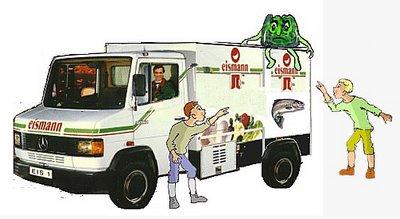 Eismannauto mit 2