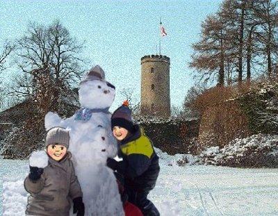 Schneefrau Kinder