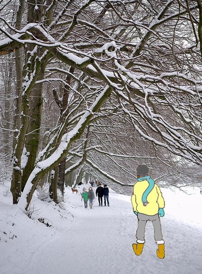 Schneefrau Promenade