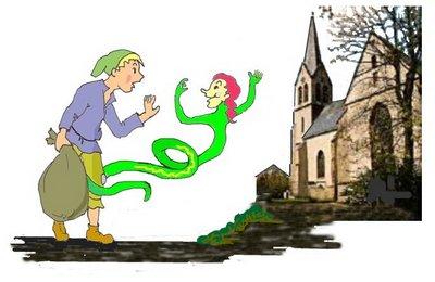 Erb Schlange vor Kirche