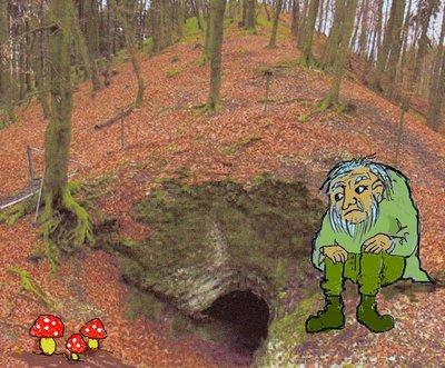 Golem Zwergenhöhle mit Zwerg