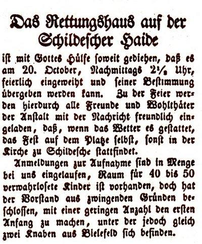 Rettungshaus Zeitung