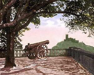 Kanone Johann 2 mit Burg