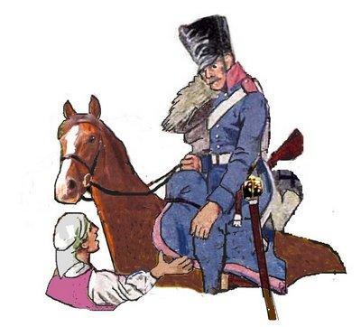 Dragoner mit neuem Pferd