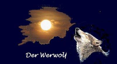 Werwolf mit Wolf und Schrift