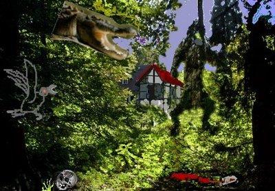 Gespensterhaus von hinten grusel