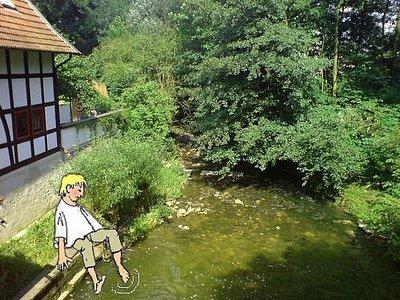 Wassermühle Heepen mit Jungen