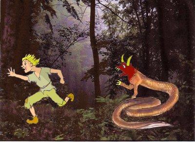 Winzr Wald 2 mit Wurm Jungen