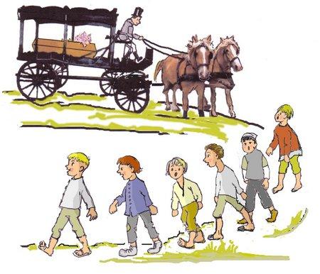40 Leichenwagen Kinder