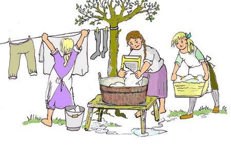 40 Wäsche waschen