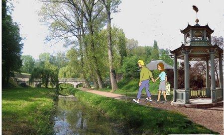 33 Bois de Bologne mit Pavillon
