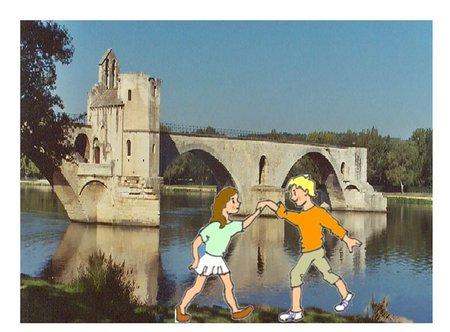 33 sur le Pont d'Avignon