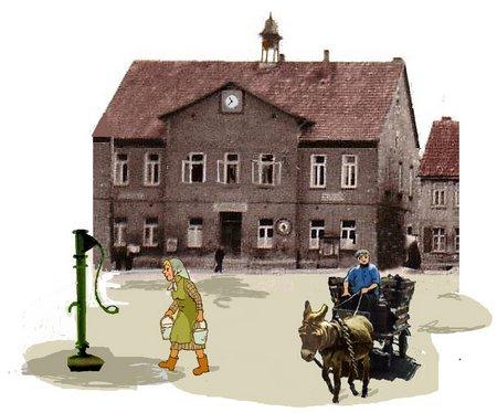 Esel Rathaus Esel Brunnen