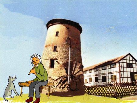 Pfäpen Seiler vor Turm