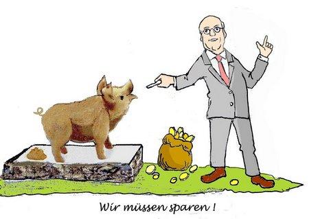 Schwein mit Bürgermeister