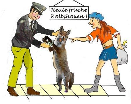 Fuchs beim Fleischer