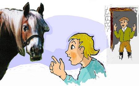 Dorf Pferd mit Lumpi2