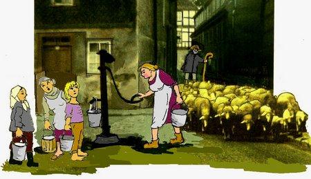 DorfPumpe Schafe GUT