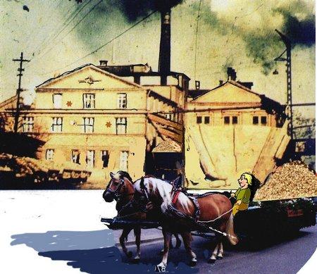 Zuckerfabrik mit Pferd neu